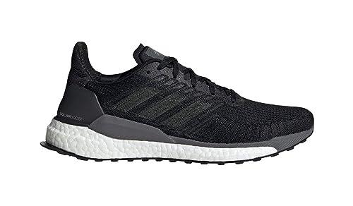Adidas Hombre Solar Boost Correr Zapatos Zapatillas Negro