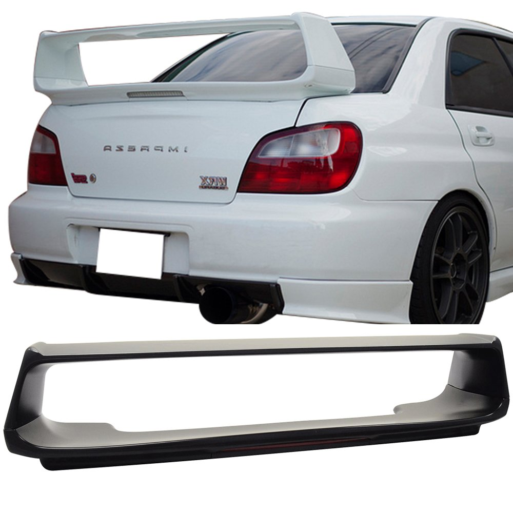 Amazon.com: Trunk Spoiler Fits 2002-2007 Subaru Impreza | OE Style ABS  Unpainted With 3RD Brake Light Trunk Boot Lip Spoiler Wing Deck Lid By IKON  ...