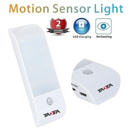 Armario de yadea USB Batería de luz Sensor de movimiento 12 LED portátil armario seguridad luz
