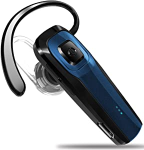 Masentek M26 Bluetooth Headset V4.1 Cordless Handsfree Blue Earpiece w/ Noise Cancelling Mic for iPhone 7 Plus 6s 5s SE iPad Samsung Galaxy S7 Edge S6 S5 Note5 4 LG G5 V10 Motorola HTC Android Device
