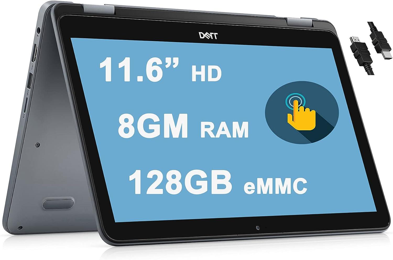 "Dell 2021 Flagship Inspiron 11 3195 2 in 1 Laptop 11"" HD Touchscreen Display 7th Gen AMD A9-9420e Processor 8GB RAM 128GB eMMC AMD Radeon R5 Graphics WiFi Bluetooth Win10 + iCarp HDMI Cable"