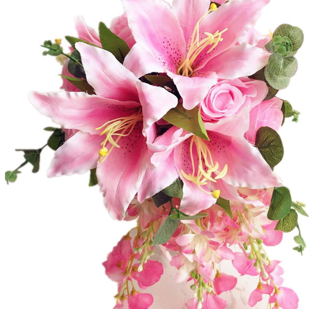 Amazon Jiumengya One Waterfall Bride Bouquet Artificial Rose