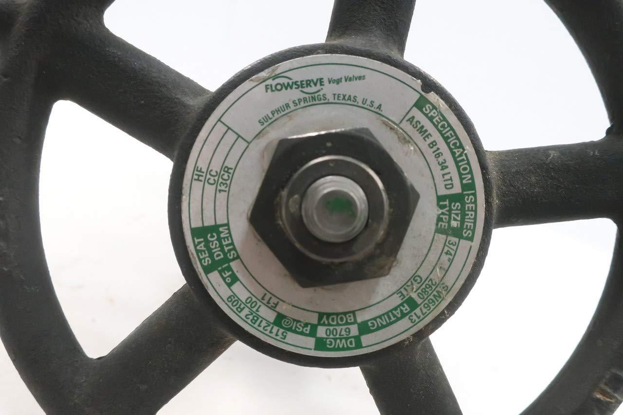 VOGT SW66713 2680 Manual Steel Socket Weld Wedge GATE Valve 3//4IN