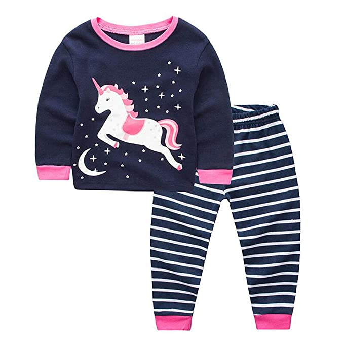 Girls Kids Child Unicorn Pyjama Night Wear Pajama Set
