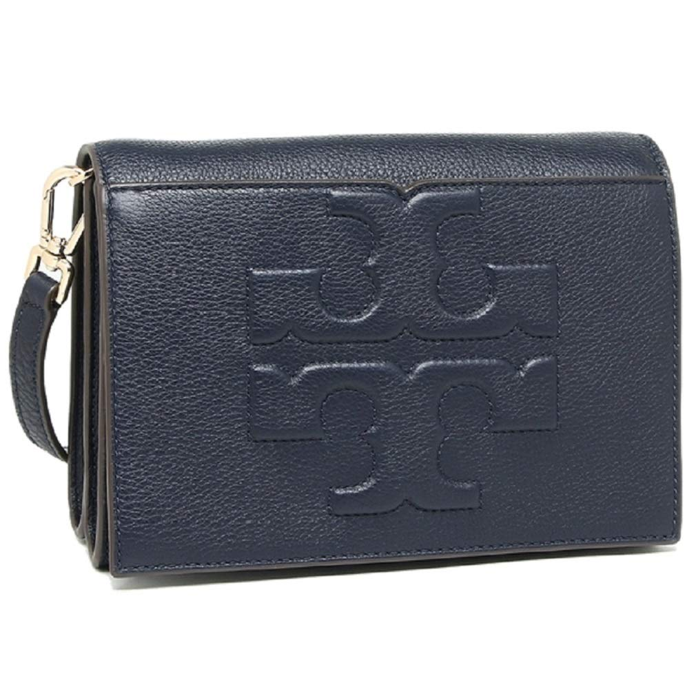 d6f2de8aeaf Amazon.com: Tory Burch 48307 Bombe T Logo Small Leather Cross Body Navy  Blue: Shoes