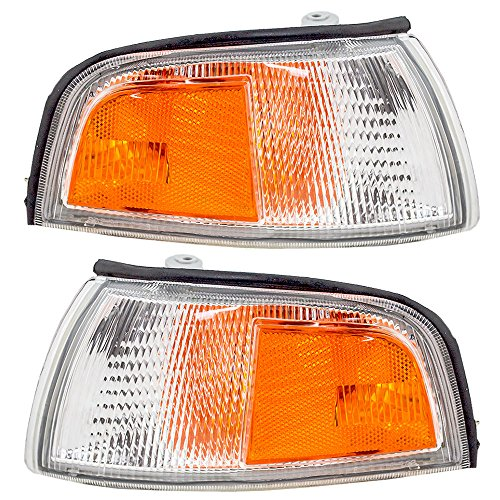 Driver and Passenger Park Signal Corner Marker Lights Lamps Lenses Replacement for Mitsubishi MR296305 MR296306 AutoAndArt - Mitsubishi Mirage Signal Light