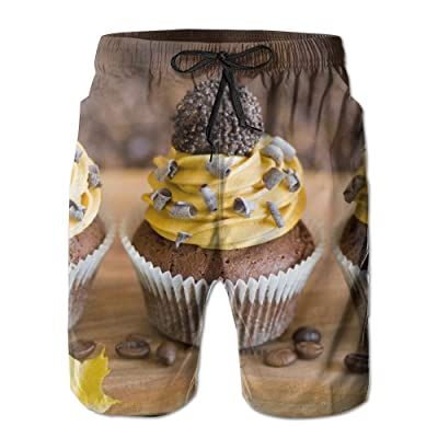 HFSST Pretty Pastry Chocolate CakeHandsome Fashion Summer Cool Shorts Swimming Trunks Beachwear Beach Shorts