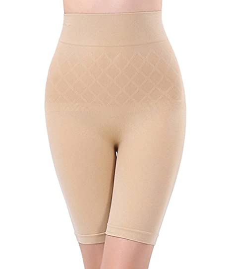 967036b4d0 Quttos Beige Cotton Women s High Waist Mid Thigh Shapewear (Pctt20197 Free  Size)