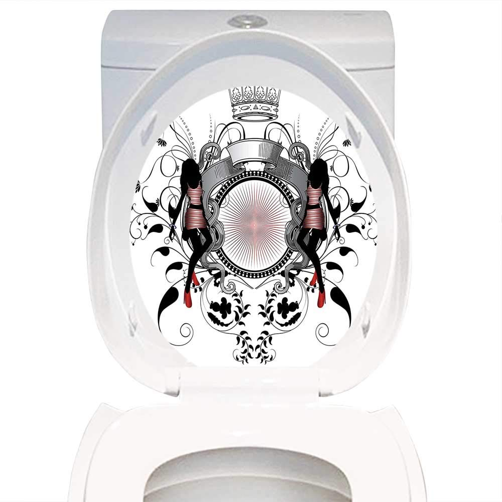 Marvelous Amazon Com Qianhe Home Toilet Seat Wall Stickers Paper Pdpeps Interior Chair Design Pdpepsorg