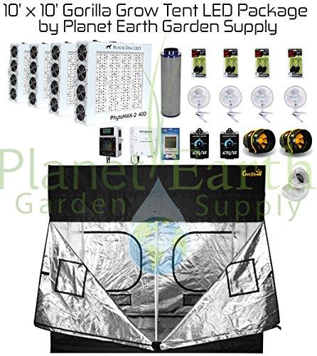 10u2032 u0027 10u0027 gorrila grow tent kit u2013 black dog phytomax2 600