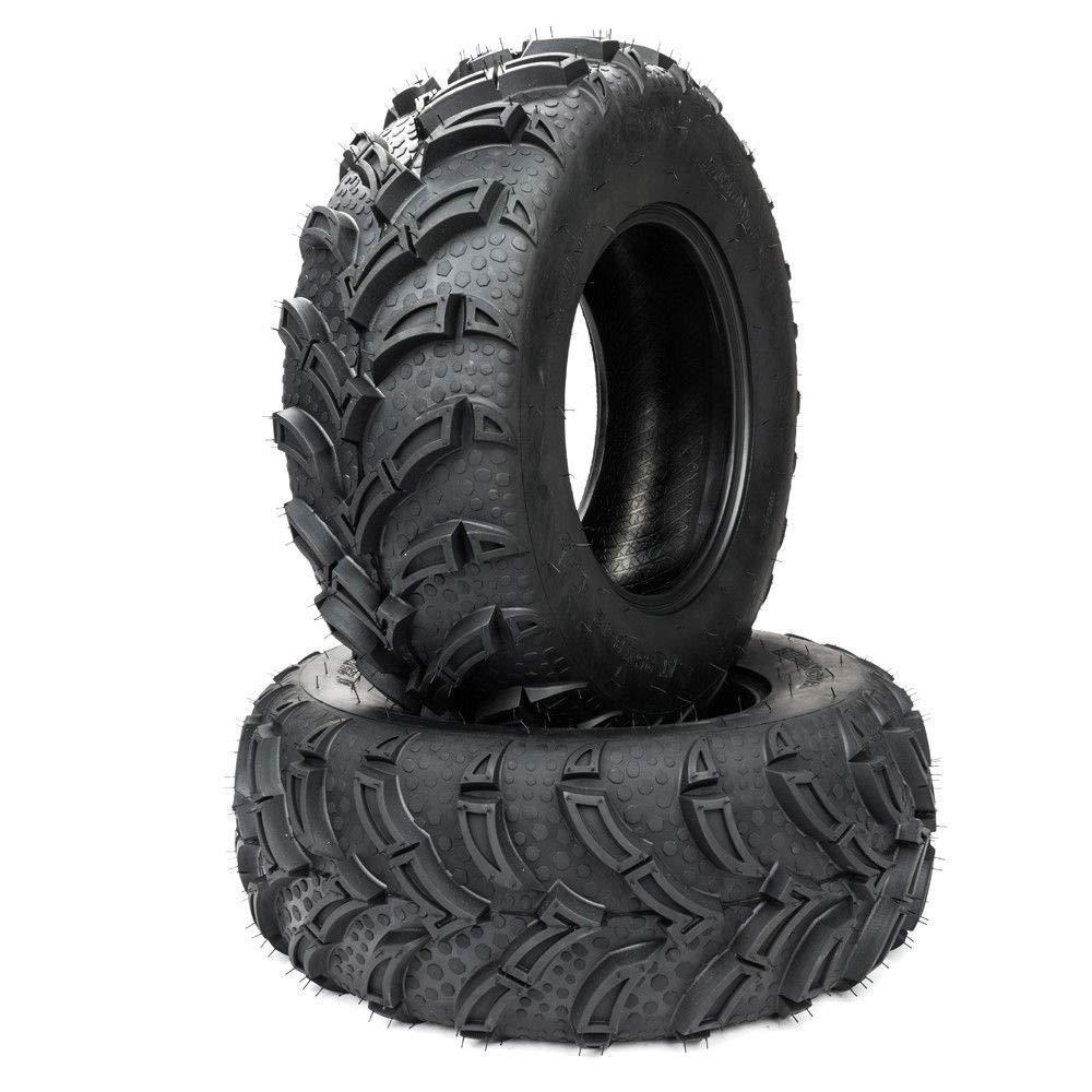 ATV/UTV Tires 25/8-12 6 Ply P377 Front Tires Rim Size 6.5' Max Load: 340 lbs Set of 2 Roadstar