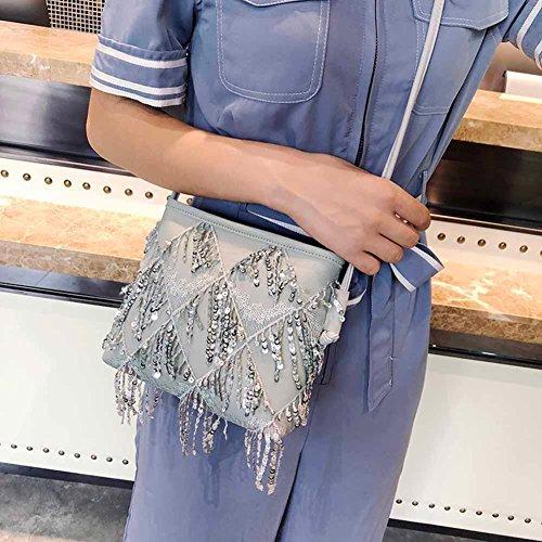 hombro Widewing mujer Sintética Gris para de Piel Bolso al PxwEwpRC