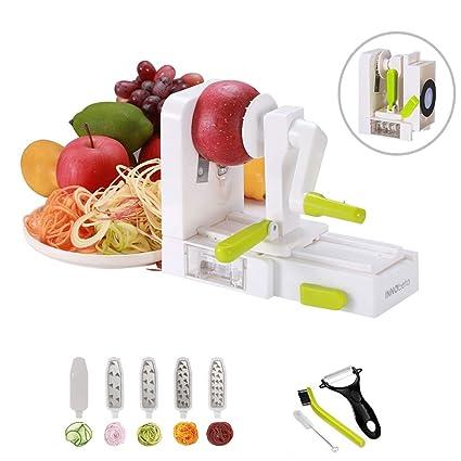 InnoBeta Espiralizador-Cortador en Espiral, Mandolina, rallador, para Frutas y Verduras,