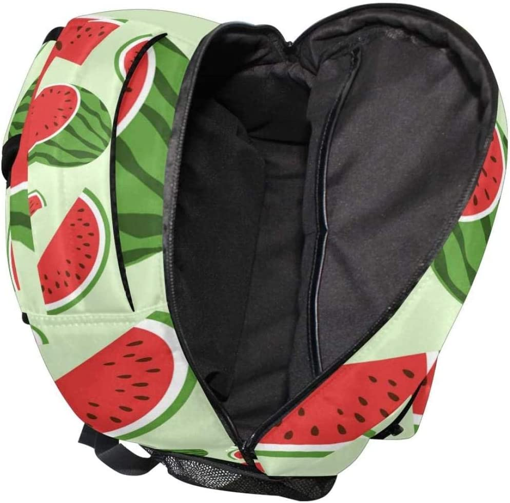 3D school bag Backpack with watermelon pattern large capacity school bag linen for on the go ideal for women men girls boys