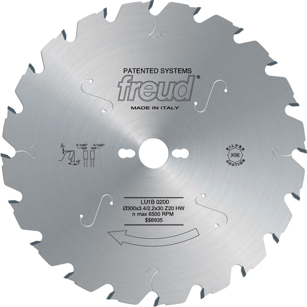 Freud LU1B01 250mm 18 Tooth Carbide Tipped Blade for Carpentry Works Suitable for Ripping and Crosscutting