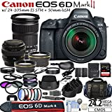 Canon EOS 6D Mark 2 Digital SLR Kit + 24-105mm IS STM Lens + 50mm f/1.4 USM Lens + Enhancement Kit