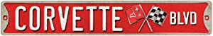 Open Road Brands Corvette Boulevard Tin Street Sign