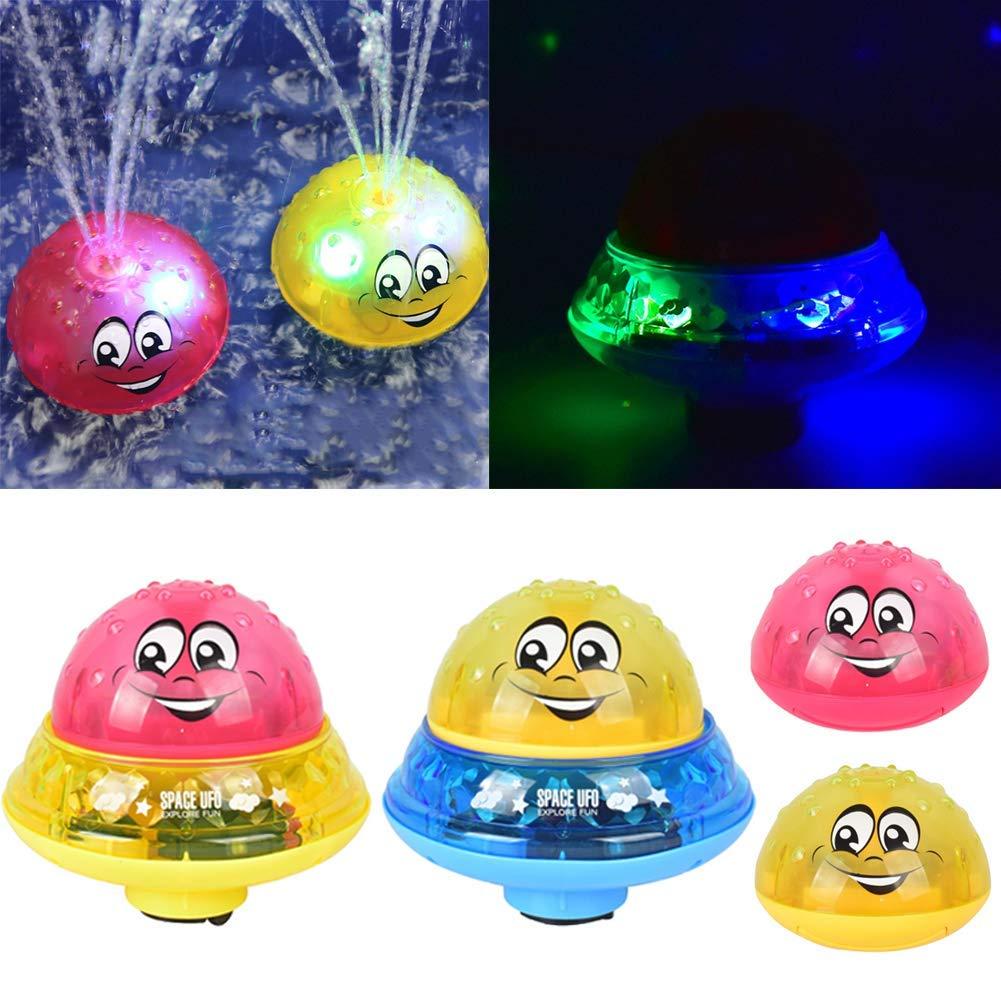B/éB/é Toddler Jouet De Bain Rechargeable Hamkaw Jouet De Bain Sprinkler 2 en 1 Boule de sprinkleur rotative /à Induction /électrique avec lumi/ère//Musique pour b/éb/é Tout-Petit