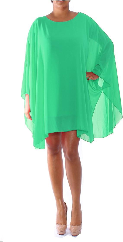 Women Baggy Batwing Long Sleeve Top Loose Oversized Blouse Chiffon Plus Size UK