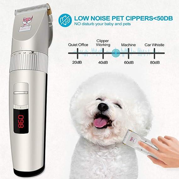 Amazon.com: 【Nueva versión】Cortapelos para perros, kit de ...