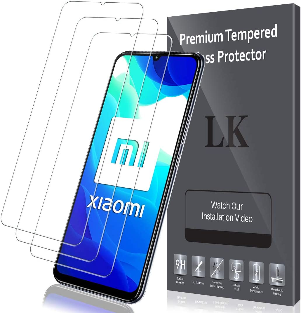 LK Protector de Pantalla para Xiaomi Mi 10 Lite 5G Cristal Templado, [3 Pack] [9H Dureza] [Resistente a Arañazos] Protector Pantalla Vidrio Templado para Xiaomi Mi 10 Lite, X-8