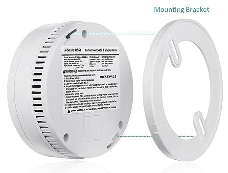 X de Sense DS51 combinada de monóxido de carbono CO & humo detector de fuego Incendio Detector de [batería operativos]: Amazon.es: Bricolaje y herramientas