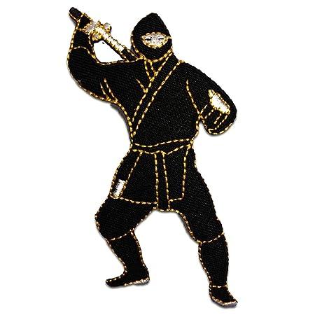Parches - Ninja combatiente Comic - negro - 5,2x10,3cm ...
