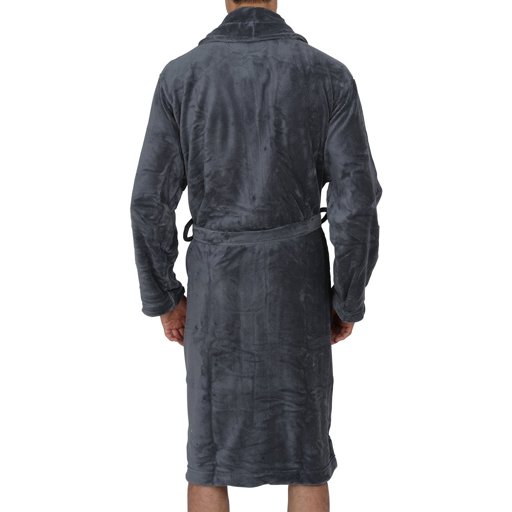 Regency New York Luxurious Mens /& Womens Hooded Robe /& Shawll Collar Soft Fleece Bathrobe Spa Robe