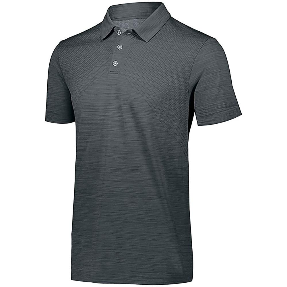 Holloway Striated Polo Graphite 3 X L   B07C4FFFS7