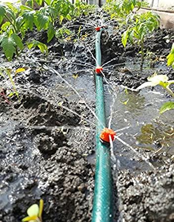 50pcs jardín riego por goteo de cabeza 1/4 manguera rociadores: Amazon.es: Bricolaje y herramientas