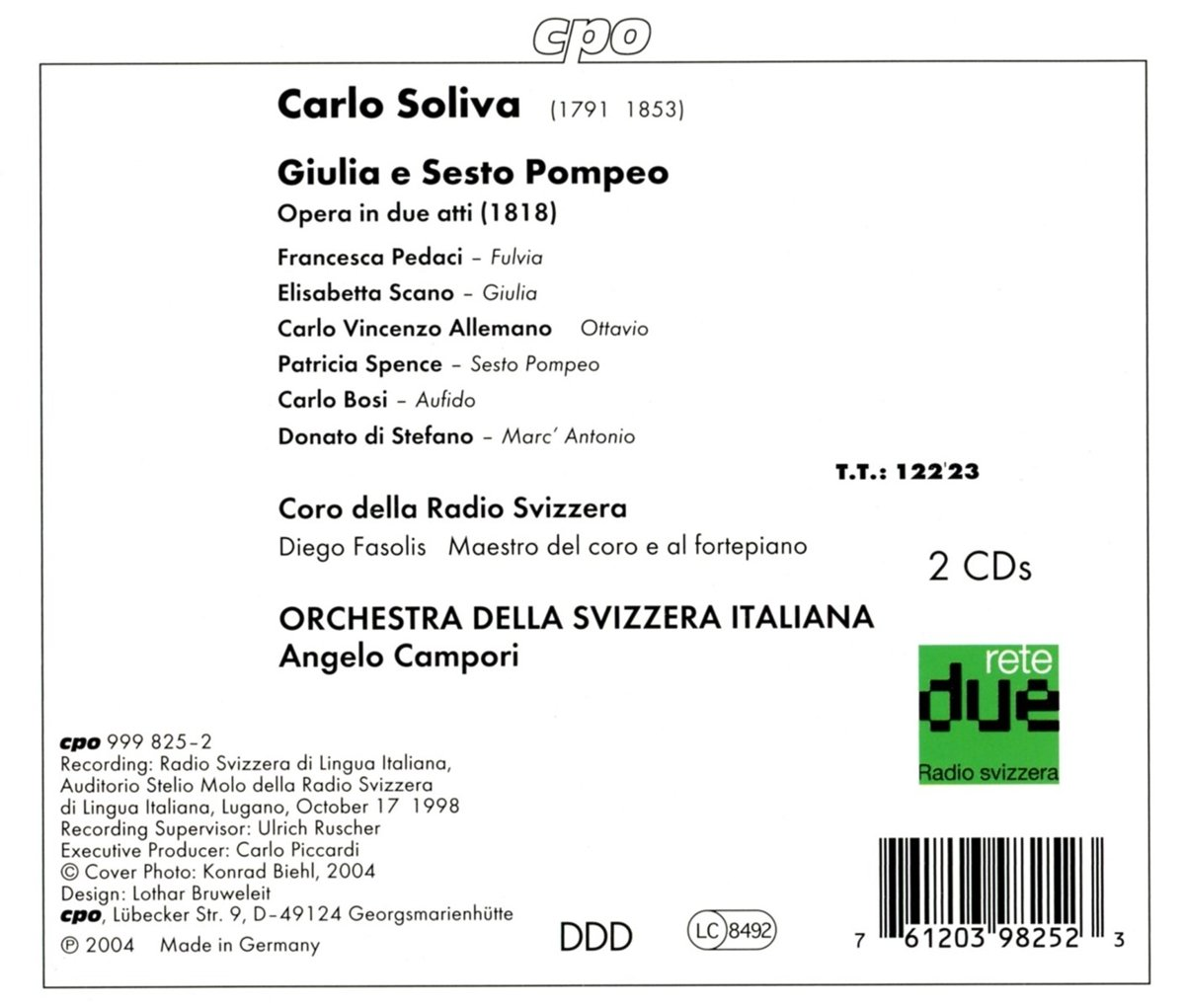 Carlo Soliva: Giulia e Sesto Pompeo