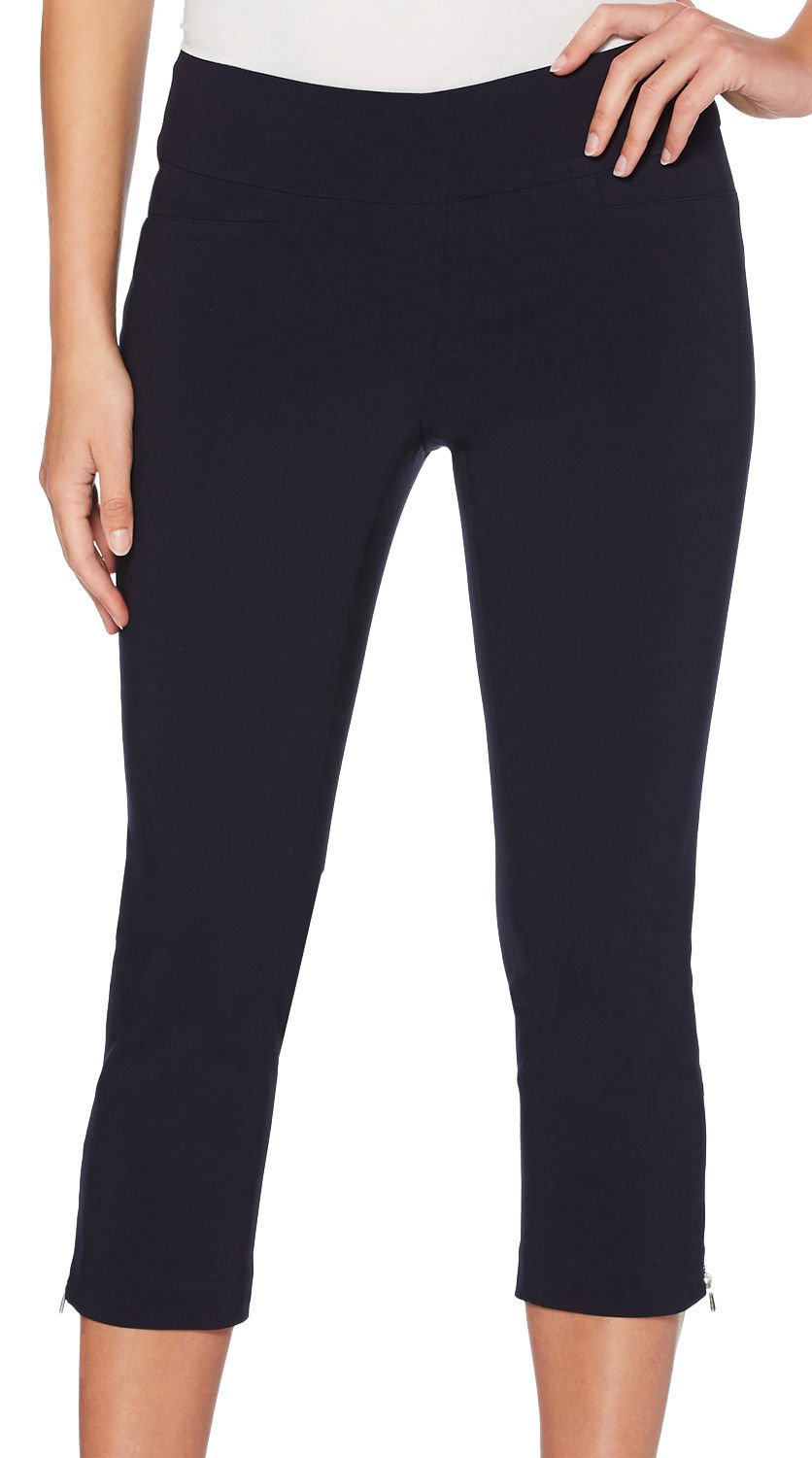 Rafaella Women's Petite Supreme Stretch Capri, Navy, 8P