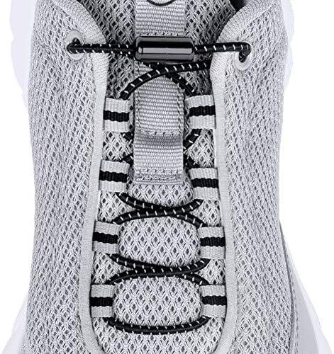 CalMyotis Elastic Shoelaces Turnbuckle Sneakers