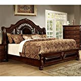 California King Size Bed Dimensions in Feet Furniture of America Lacresha California King Bed in Brown Cherry