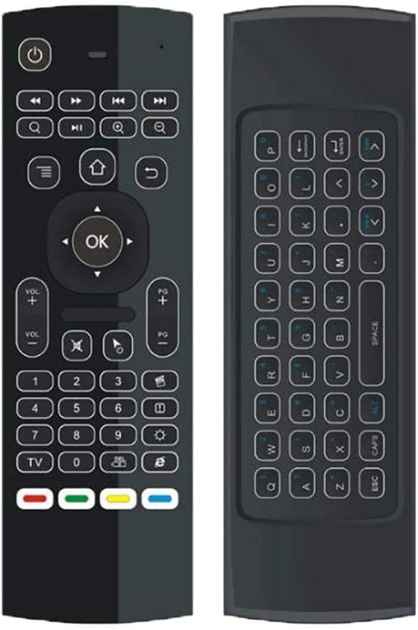 Color: black type 3 Calvas 2.4 GHz Remote Controller Wireless Mini 10-15 meters Double-sided Full Keyboard 81 keys Home Air Mouse