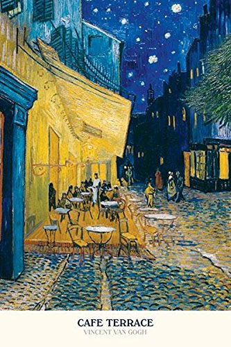 (24x36) Vincent Van Gogh (Cafe Terrace at Night) Art Poster - Arles Poster Print