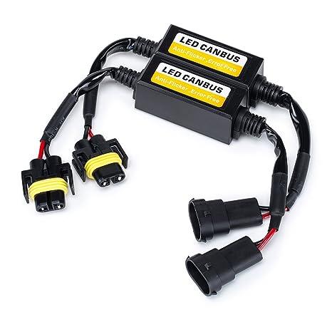2 St/ück FMS H7 LED Decoder Scheinwerfer Canbus Warning canceller Kondensator Fehler Lastwiderstand Plug /& Play Computer Anti Flicker