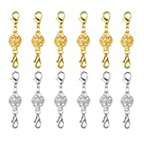 Amazon Price History for:Dsmile Magnetic Jewelry Clasps Rhinestone Ball Style for Jewelry Necklace Bracelet,10 mm Gold/Silver Plated 12 Sets