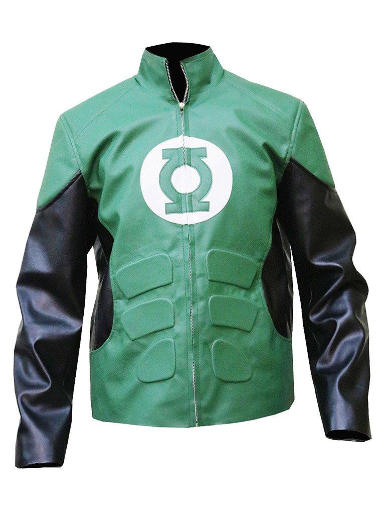 Gen1 Leathers Green Lantern Hal Jordan Ryan Reynolds Synthetic Leather Jacket - BNWT (L, Green)