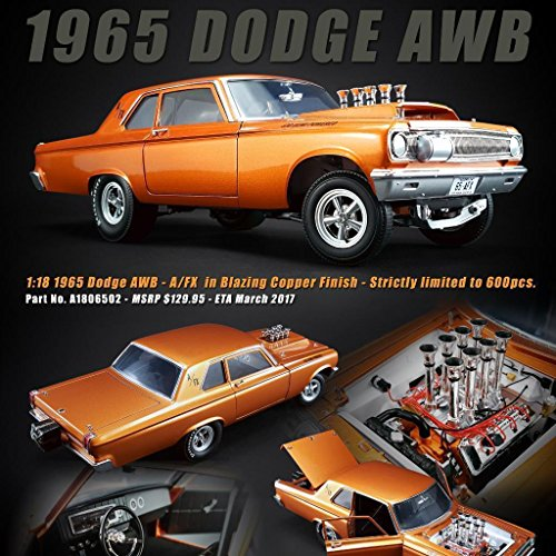 new-118-acme-limited-edition-collection-copper-1965-dodge-awb-limited-diecast-model-car-by-acme