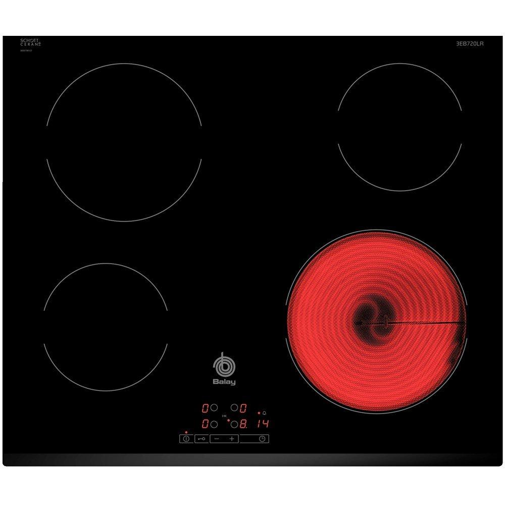Balay 3EB720LR - Placa Vitrocerámica 3Eb720Lr Con 4 Zonas De Cocción