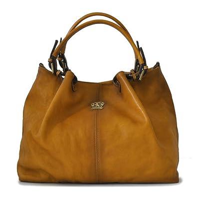 925ee50e0fa Pratesi cuir italien vieilli seau hobo sac à main (Bronzage brun ...