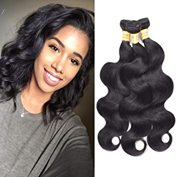 acdce83c4 Brazilian Virgin Human Hair 3 Bunldes Body Wave Remy Hair Unprocessed Hair  Weave Bundle Deals More