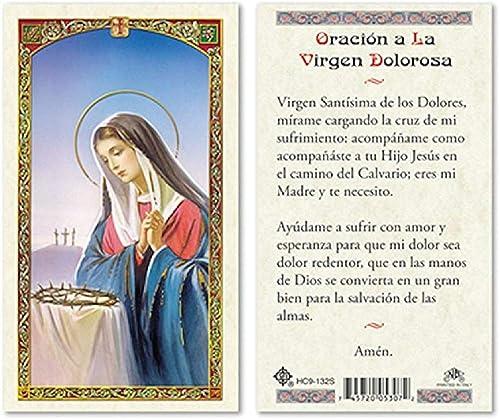 Tarjetas de felicitación laminadas de la Madre de Sorrow en ...