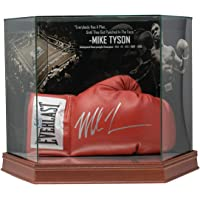 $299 » Mike Tyson Signed Red Everlast Boxing Glove In Photo Background Glove Case JSA