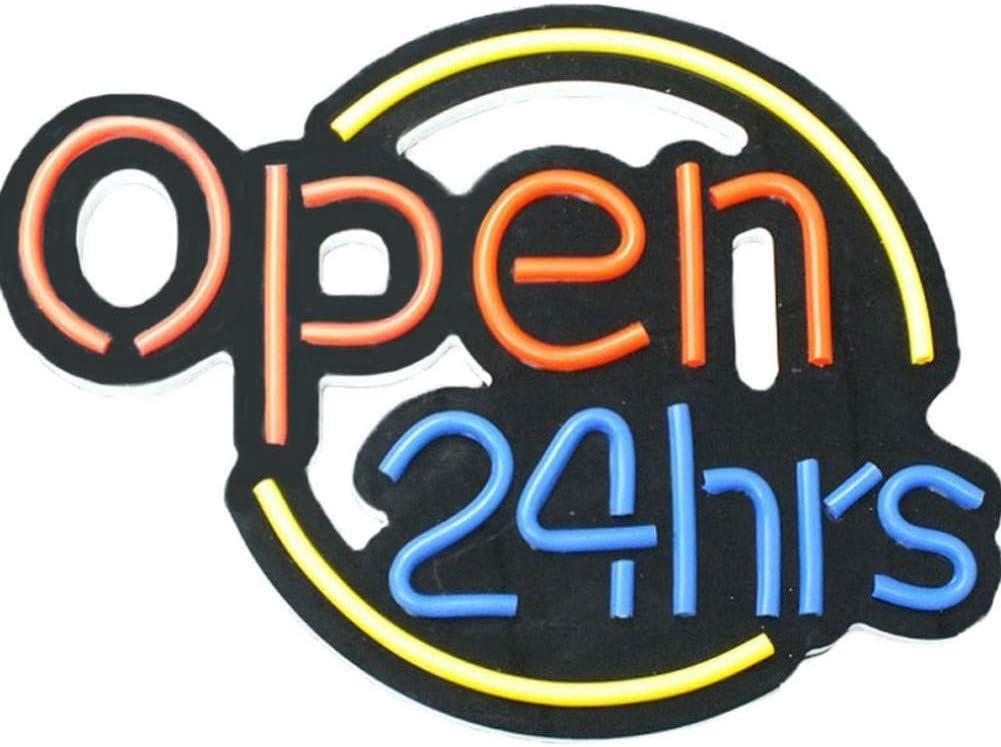 """24/"""" X 24/"""" gimnasio abiertos 24 horas Neón Luz Colgante visual Obra De Arte Habitación Pared Hogar"""