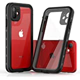 iPhone 11 Case, Waterproof Full Body Rugged Clear 6.1 cases with Built-in Screen Protector Heavy Duty Clear Case Shockproof Cover Outdoor Dirtproof Underwater phone Case for iPhone 11 (Black, 6.1)