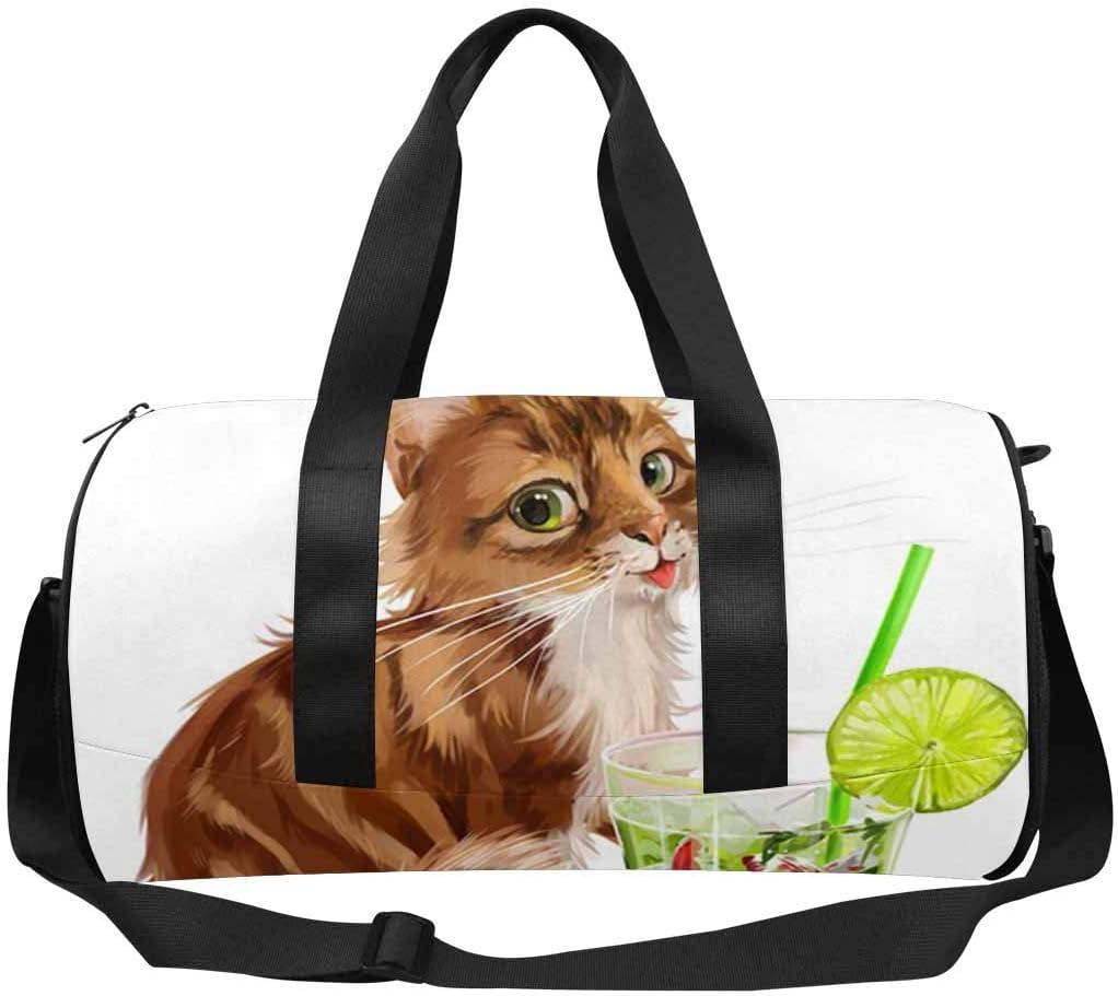 INTERESTPRINT Cat Painted Travel Bag Water-Resistant Duffle Bag