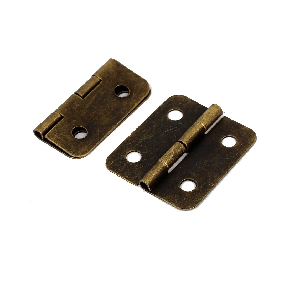 eDealMax Mobili portello del cassetto del 1.2 pollici di lunghezza metallo Butt pieghevole Cerniere di tono del bronzo 50PCS by eDealMax