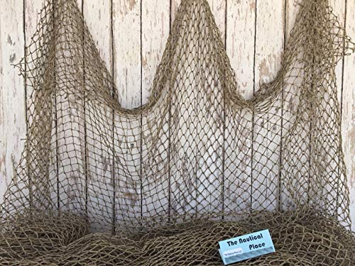 Rustic & Primitive Crafting Supplies (B) Manufactured to Look Antique Authentic Used Fish Netting ~ 10' x 10' ~ Fishermans Net ~ Old Fisherman's Sea Inspiration for A Project from Rustic & Primitive Crafting Supplies (B)